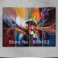Free-shipping-100-handmade-modern-decoration-group-oil-painting-abstract-wall-art-without-frame-ZSDP1307