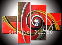 Hand-Painted-melody-oil-wall-art-decoration-abstract-oil-paintings-4pcs