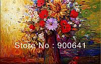 Flower-Oil-Painting-Modern-Canvas-Hand-painted-Abstract-Flower-wall-art-Deco-Art-HN017
