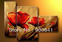 Framed-Oil-Painting-Flower-Modern-Hand-painted-Canvas-Abstract-Group-wall-art-Deco-Art-HD002