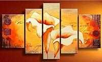Free-Shipping--TheLily-5Pcs-Huge-Modern-Flower-Oil-Painting-On-Canvas-Wall-Art-Top-Home