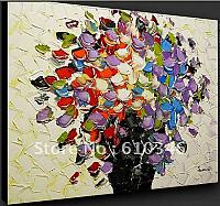 Free-shipping-Wholesale-Modern-Abstract-Oil-Painting-Floral-Flowers-Leaf-Portrait-Landscapes-Animal-Diningroom-Unframe-10074